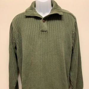 TIMBERLAND Green Sweater Chunky Knit Pullover L